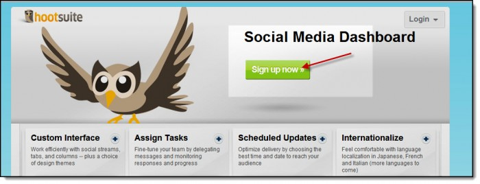 hootsuite sign up