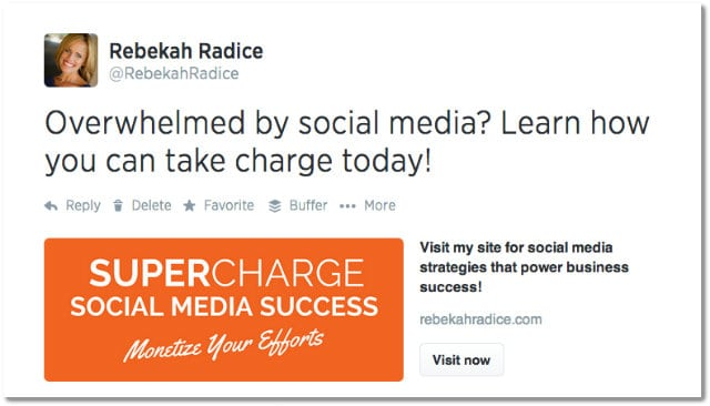 how to use twitter cards