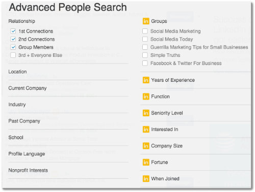 linkedin advanced people search