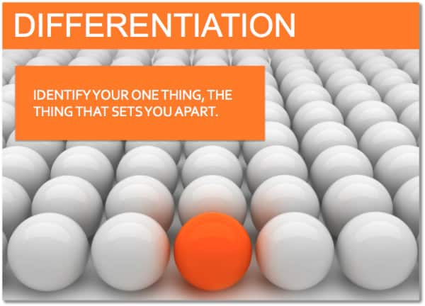social media differentiation