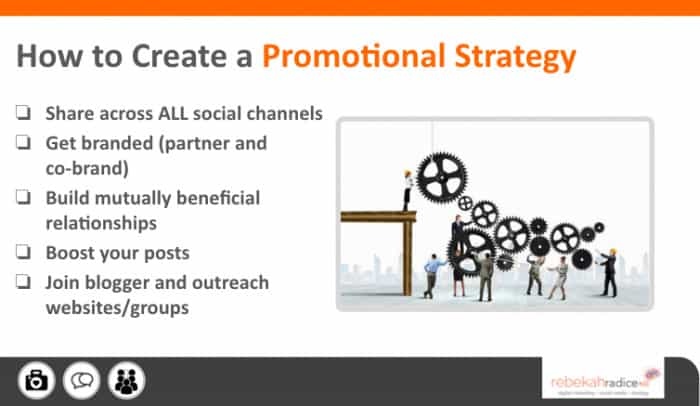create a promotional strategy