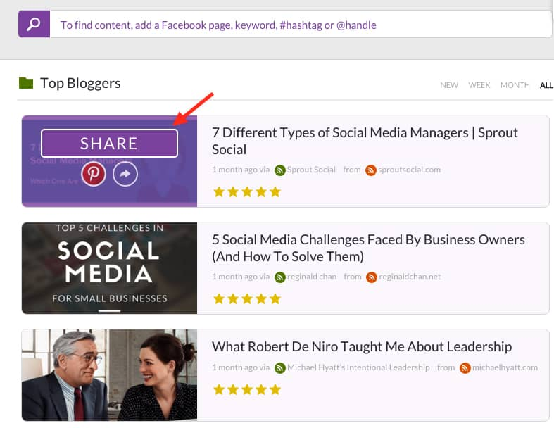 how to easily share social media content