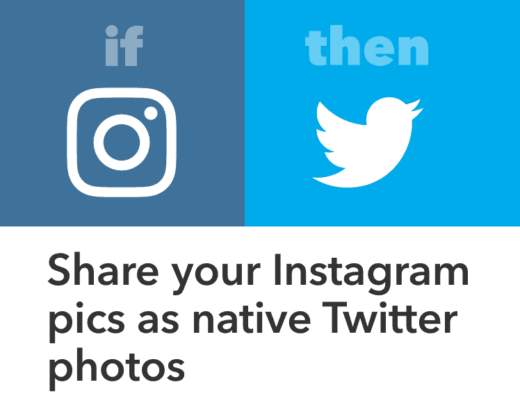 use automation to post instagram to twitter