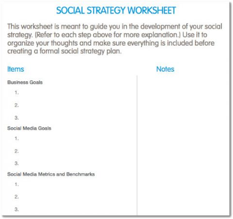 Worksheet Sales Call Planning Worksheet how to supercharge your social media marketing strategy build out goals with this worksheet from exact target by sales force